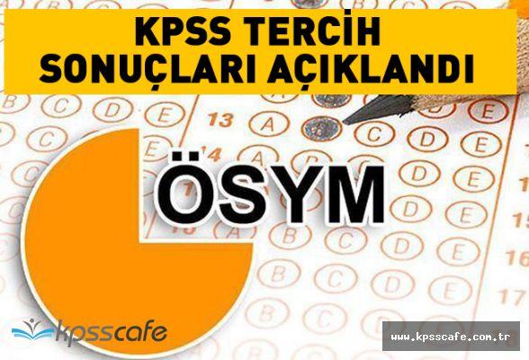 KPSS Tercih sonuçları açıklandı! 2018/1 KPSS Tercih Sonuçları