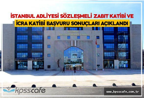 Adalet Bakanlığı İstanbul Adliyesi Sözleşmeli Zabıt Katibi ve İcra Katibi Başvuru Sonuçları Açıklandı