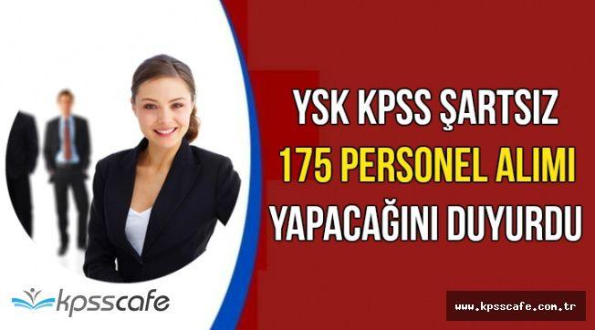 YSK KPSS'siz 175 Kamu Personeli Alım İlanı Yapacak
