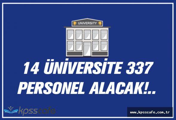 14 Üniversite 337 Personel Alacak!..
