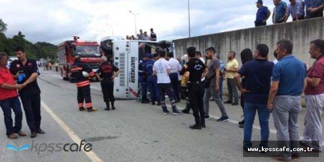 Trabzon Vakfıkebir'de Feci Kaza: 2 Ölü , 12 Yaralı