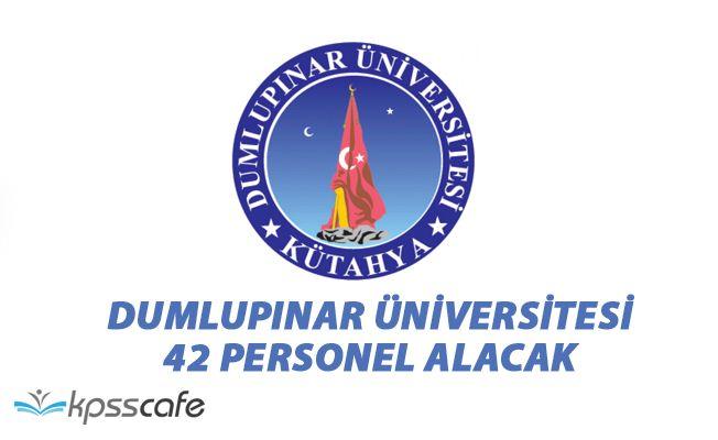 Dumlupınar Üniversitesi 42 Personel Alacak!..