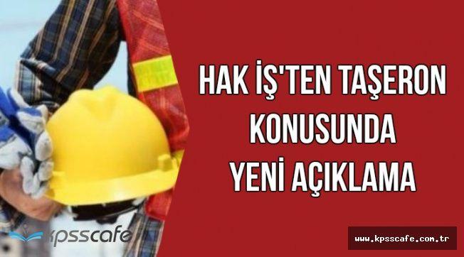 Taşerona Kadro ile Kamudaki İşçi Sayısı 5 Kart Arttı