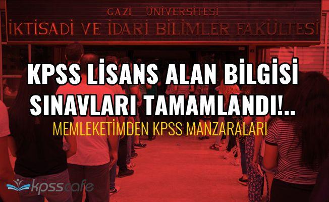 KPSS lisans alan bilgisi sınavları tamamlandı