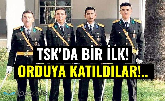 TSK'da bir ilk! Orduya katıldılar!..