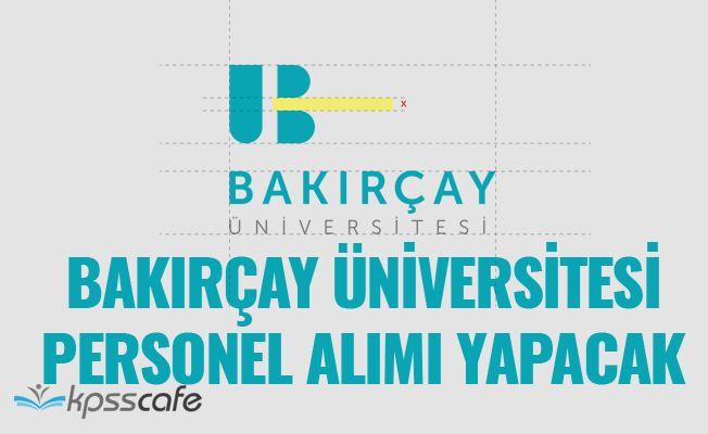 İzmir Bakırçay Üniversitesi Personel Alacak!..