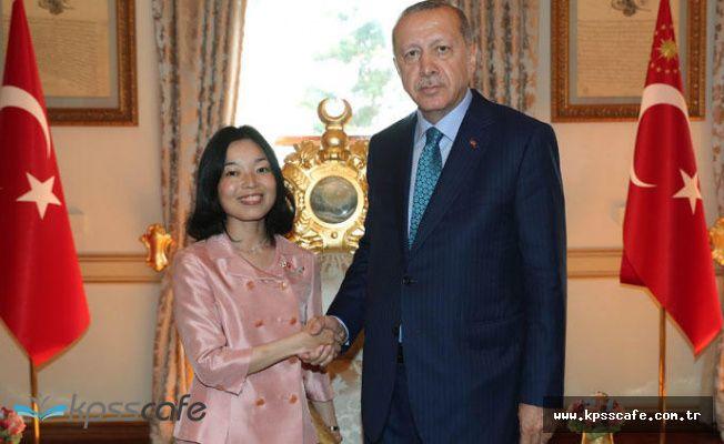 Erdoğan, Japonya Prensesi ile Basına Kapalı olarak 1,5 saat görüştü