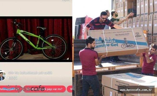 Namaz kılıp kazanılan bisikletler satılığa çıkarıldı