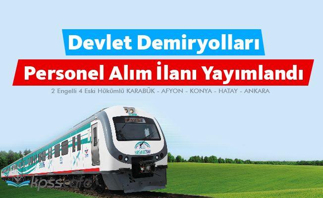 Devlet Demiryolları Personel Alım İlanı Yayımlandı
