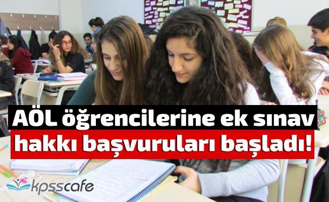 AÖL öğrencilerine ek sınav hakkı başvuruları başladı!