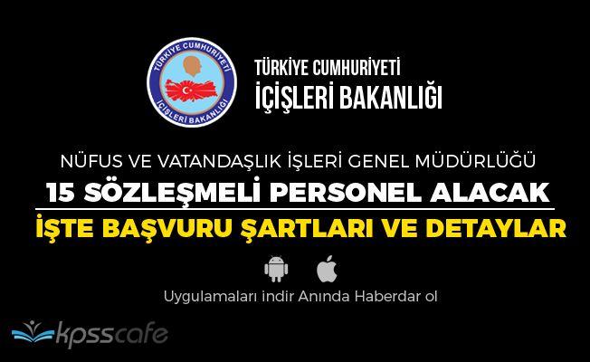 İçişleri Bakanlığı Nüfus Müdürlüğü'ne Sözleşmeli Memur Alımı Yapacak!..