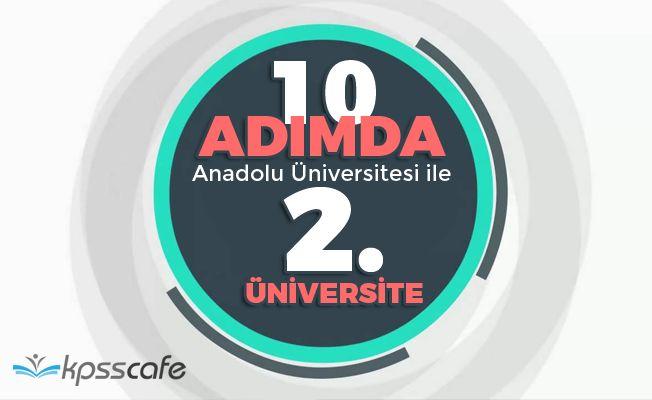 10 Adımda Anadolu Üniversitesi ile İkinci Üniversite