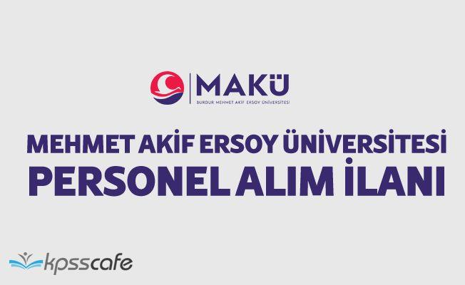 Mehmet Akif Ersoy Üniversitesi Personel Alım İlanı