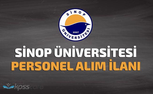 Sinop Üniversitesi Personel Alımı Yapıyor!
