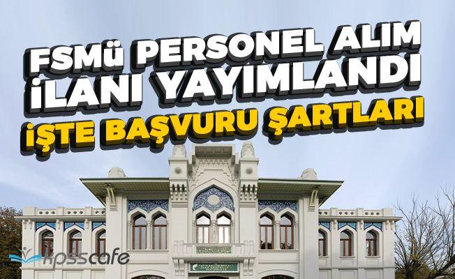 Fatih Sultan Mehmet Üniversitesi Personel Alım İlanı Yayımlandı!