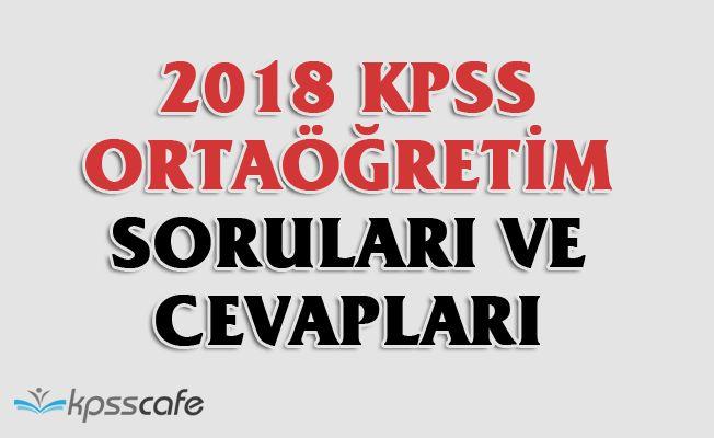 2018 KPSS Ortaöğretim Soruları ve Cevapları