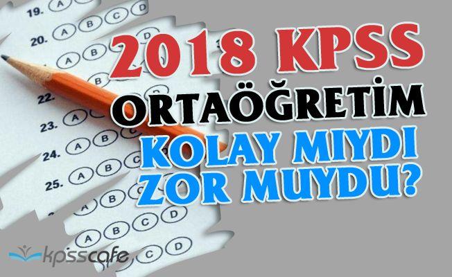 Ortaöğretim KPSS sınav yorumları! 07 Ekim Memurluk sınavı zor muydu?