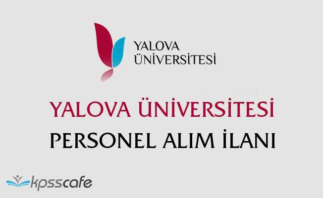 Yalova Üniversitesi Personel Alım İlanı!