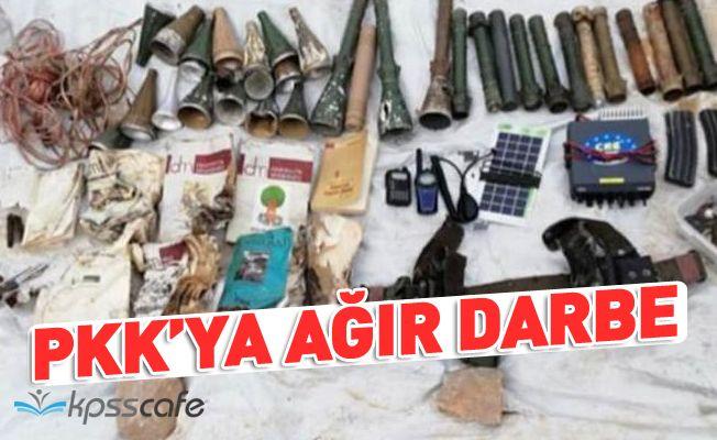 PKK'ya ağır darbe! Çok sayıda mühimmat ele geçirildi