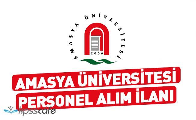 Amasya Üniversitesi 10 Akademik Personel Alımı Yapacak!