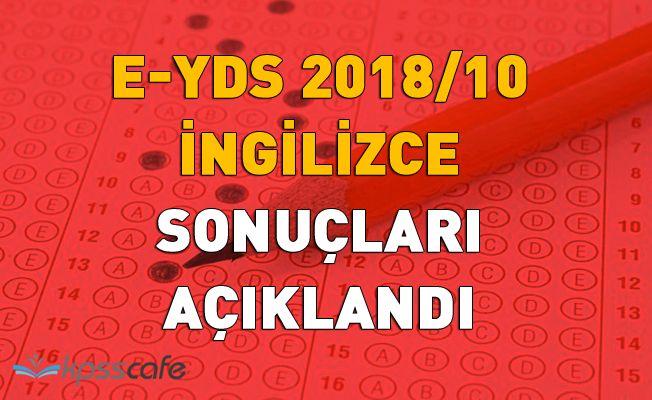 e-YDS 2018/10 İngilizce Sonuçları Açıklandı