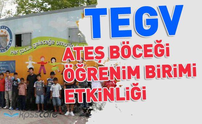 Türkiye Eğitim Gönüllüleri Vakfı Ateş Böceği Öğrenim Birimi Etkinliği