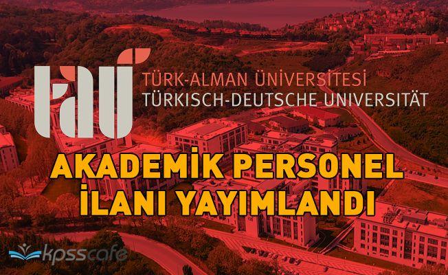 Türk-Alman Üniversitesi 5 Akademik Personel Alacak