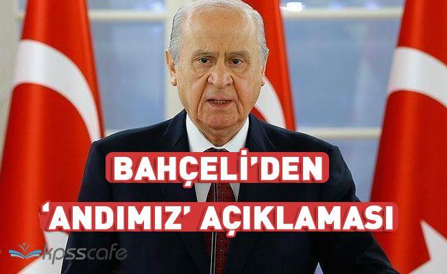 """Bahçeli'den """"andımız"""" açıklaması"""