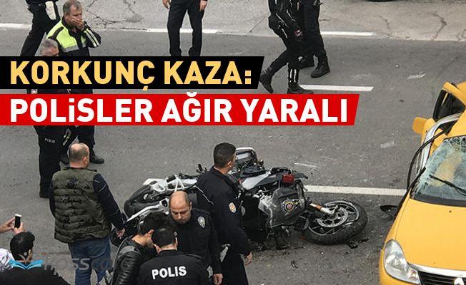 2 Polis Memuru Feci Şekilde Kaza Yaptı!