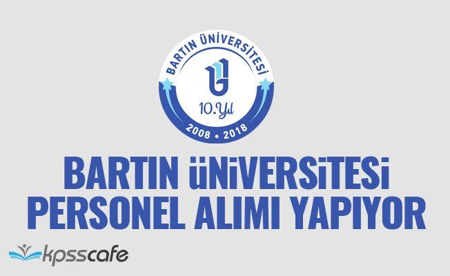 Bartın Üniversitesi Akademik Personel Alacak