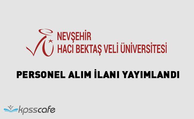 Nevşehir Hacı Bektaş Veli Üniversitesi Akademik Personel Alacak