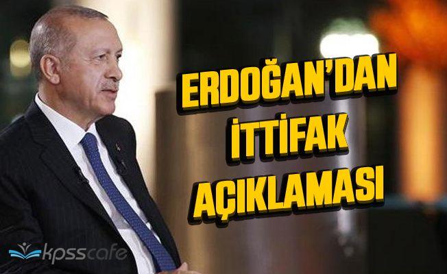 Erdoğan'dan flaş Bahçeli ve Cumhur İttifakı açıklaması