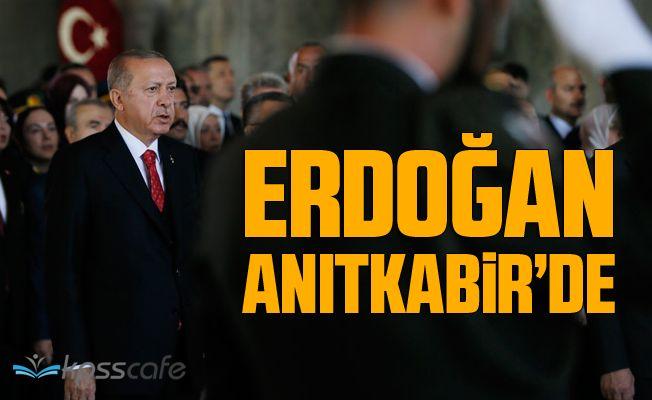 Erdoğan, Anıtkabir'de düzenlenen törene katıldı