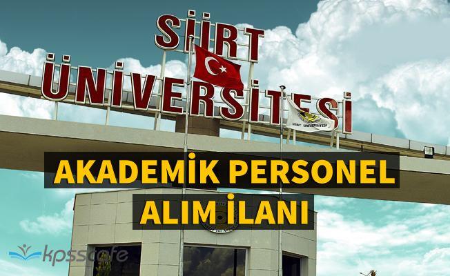 Siirt Üniversitesi 16 Akademik Personel Alacak