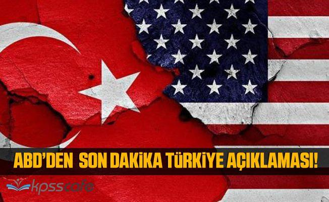 ABD'den Son Dakika Türkiye Açıklaması : Adalet ve İçişleri Bakanlarına Uygulanan Yaptırımlar Kaldırıldı