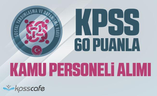 SYDV KPSS 60 Puanla Memur Alım İlanı Yayımlandı