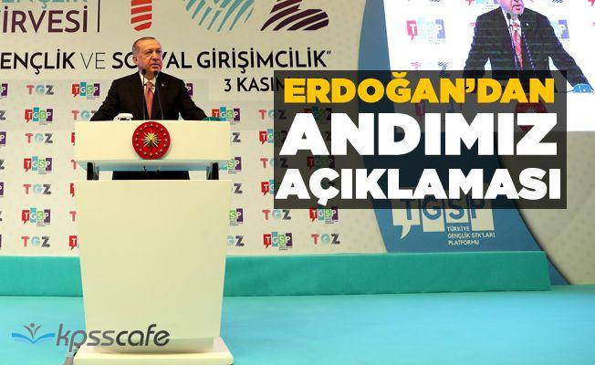 Erdoğan: Öğrenci Andı, ezanı Türkçe okutmak isteyenlerin metnidir