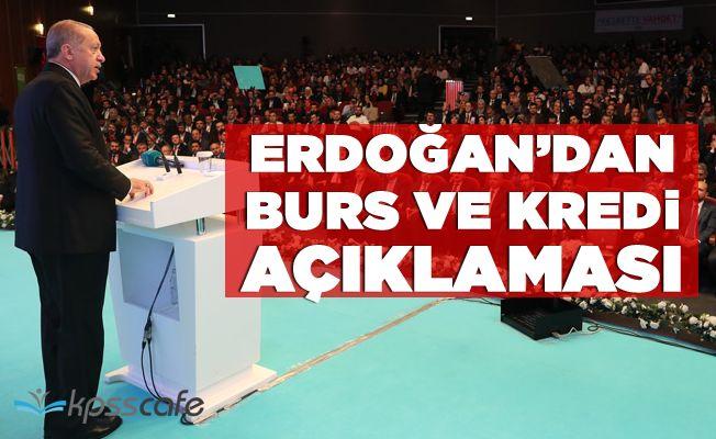 Erdoğan'dan Öğrenci Bursu ve Kredi Açıklaması!