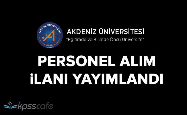 Akdeniz Üniversitesi 63 Öğretim Üyesi Alacak