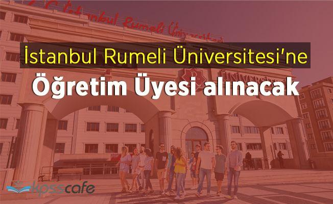İstanbul Rumeli Üniversitesi'ne 17 Öğretim Üyesi alınacak