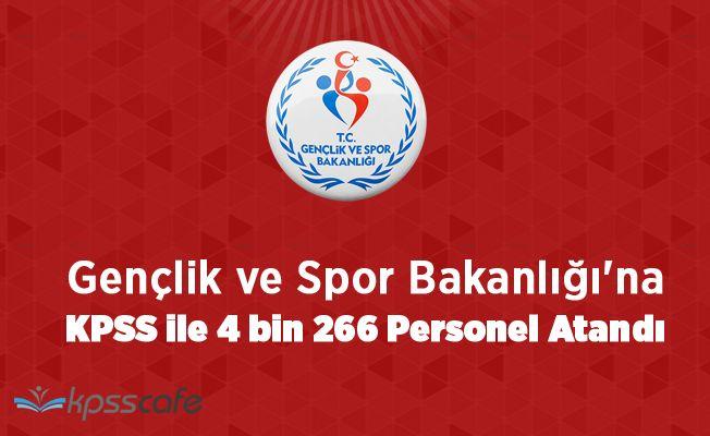 Gençlik ve Spor Bakanlığı'na KPSS ile 4 bin 266 Personel Atandı