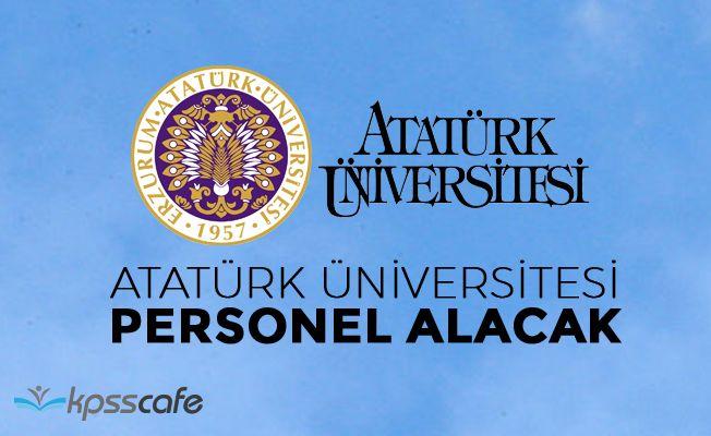 Atatürk Üniversitesi 61 Akademik Personel Alıyor!
