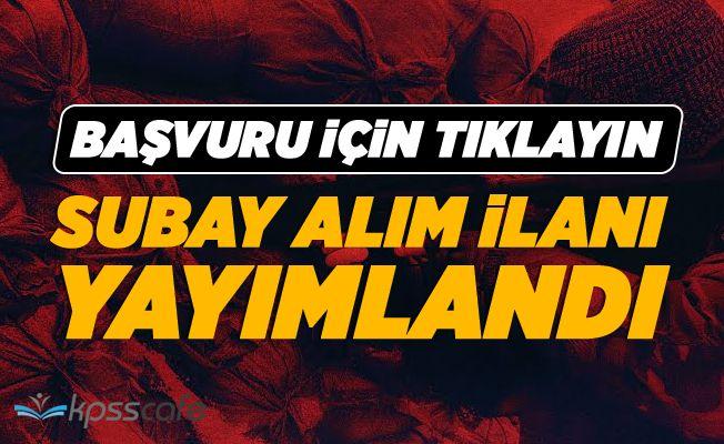 TSK Subay Alım İlanı Yayımlandı!