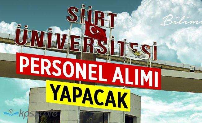 Siirt Üniversitesi Akademik Personel Kadrolarına 16 Öğretim Üyesi Alacak