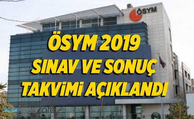 ÖSYM 2019 Sınav Takvimi Açıklandı!