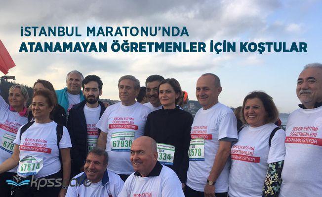 İstanbul Maratonu'nda Atanamayan Öğretmenler İçin Koştular
