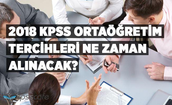 KPSS ortaöğretim tercihler ne zaman yapılacak? ÖSYM KPSS tercih kılavuzu yayınladı mı?
