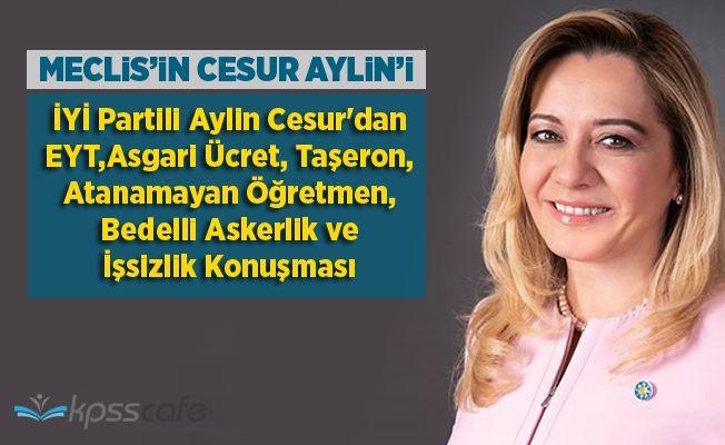 İYİ Partili Aylin Cesur'dan EYT,Asgari Ücret, Taşeron, Atanamayan Öğretmen, Bedelli Askerlik ve İşsizlik Konuşması