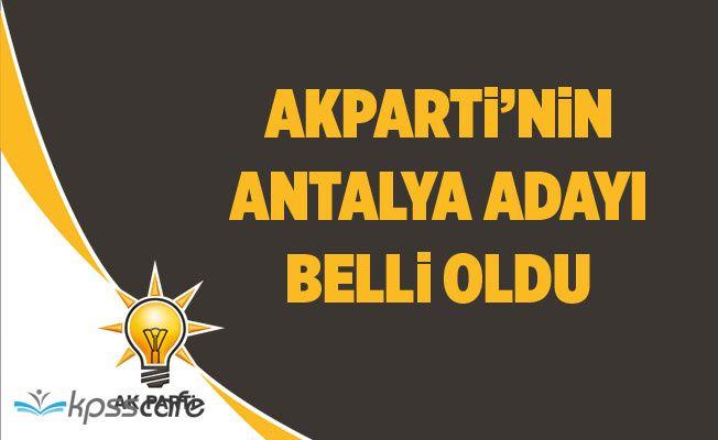 AKP'nin Antalya adayı Menderes Türel