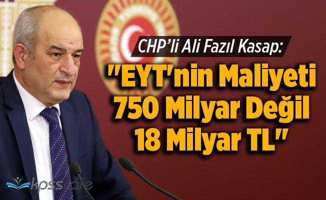 """""""EYT'nin Maliyeti 750 Milyar Değil 18 Milyar TL"""""""